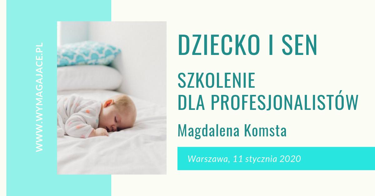 WARSZAWA: Dziecko i sen. Szkolenie dla profesjonalistów